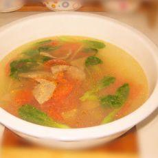 蔬菜猪肝汤