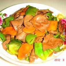 炒青椒猪肝胡萝卜的做法