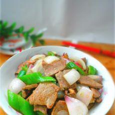 洋葱青椒炒猪肝的做法