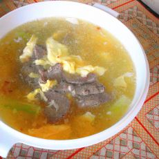 猪肝瘦肉冬瓜汤