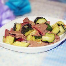 黄瓜拌猪肝