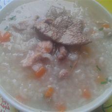 猪肝瘦肉粥的做法