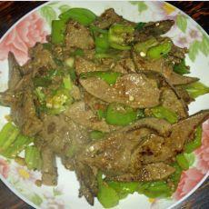 猪肝炒辣椒的做法