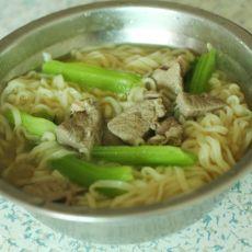 猪肝青菜面的做法
