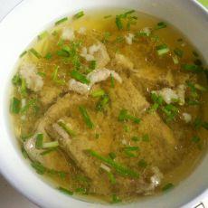 猪肝肉片汤