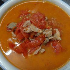 西红柿瘦肉猪肝汤