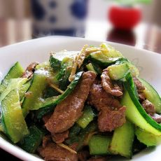 青瓜炒猪肝
