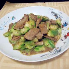 猪肝炒丝瓜