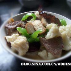 菜花炒猪肝的做法