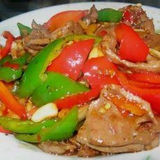 双椒炒猪肝