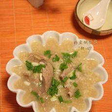 小米猪肝粥的做法