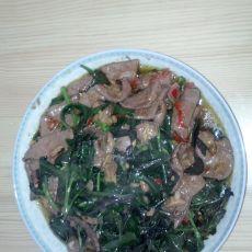 血皮菜炒猪肝