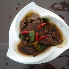 猪肝炒青椒的做法