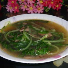 猪肝青菜汤的做法