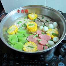 鹑蛋猪肝锅的做法