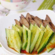 辣汁黄瓜拌猪肝