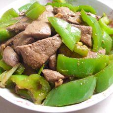 猪肝炒田椒的做法
