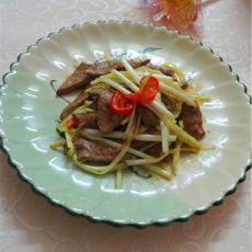 韭黄炒猪肝