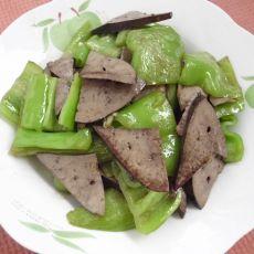 辣椒炒猪肝的做法