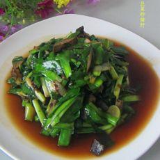 韭菜炒猪肝