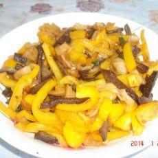 猪肝炒彩椒的做法
