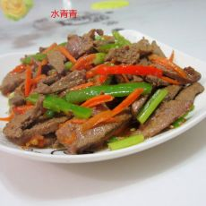 西芹胡萝卜丝炒猪肝的做法