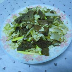 白菜拌猪肝