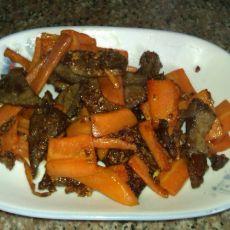 猪肝炒胡萝卜的做法