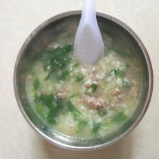 菠菜猪肝粥的做法
