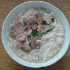 猪肝瘦肉河粉的做法