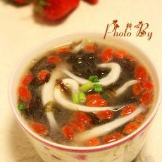 紫菜银鱼汤的做法