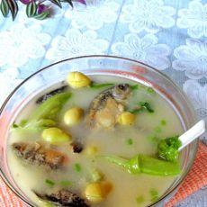 白果生菜鲫鱼汤