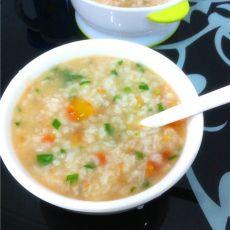 鱼香西红柿粥的做法
