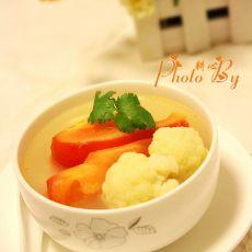 番茄菜花鲫鱼汤的做法