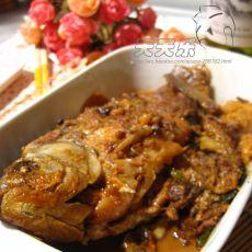 红烧鲫鱼塞肉的做法