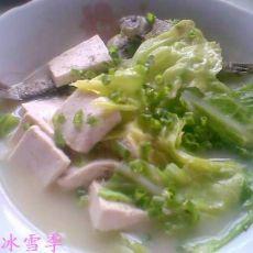 包菜豆腐鲫鱼汤