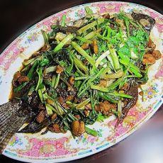 沙姜煎�h黑鲫鱼的做法
