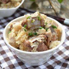 香芋排骨焖饭的做法