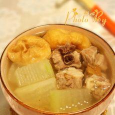 冬瓜油面筋排骨汤