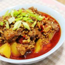 香辣剁椒排骨蒸土豆