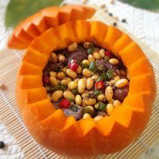 豉香黄豆排骨盅的做法
