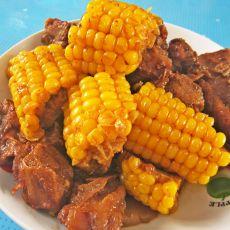 红烧排骨炖玉米的做法