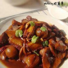 杏鲍菇红烧排骨