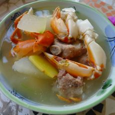 冬瓜排骨螃蟹汤的做法
