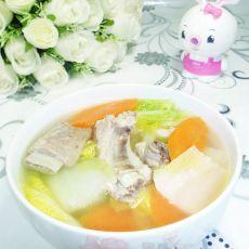 胡萝卜娃娃菜排骨汤