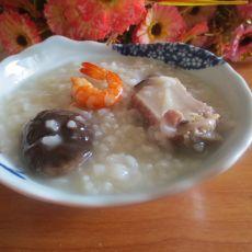 香菇排骨虾泥粥