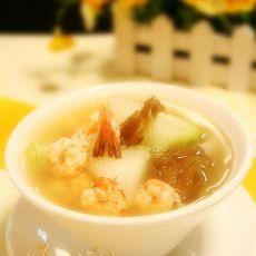 冬瓜虾仁菜脯汤