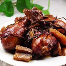 红烧鸡腿茶树菇
