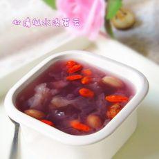 紫薯花生银耳汤的做法