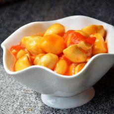 茄汁荸荠烧鲜蘑